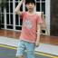 เสื้อ+กางเกง สีช็อคโกแลค แพ็ค 5 ชุด ไซส์ 120-130-140-150-160 (เลือกไซส์ได้) thumbnail 4