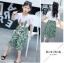 เสื้อ+กางเกง สีเขียว แพ็ค 6 ชุด ไซส์ 110-120-130-140-150-160 (เลือกไซส์ได้) thumbnail 5