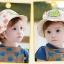 หมวกลายเอเลี่ยนมีเขาสีครีม แพ็ค 3 ชิ้น thumbnail 2