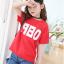 เสื้อ สีแดง แพ็ค 5 ชุด ไซส์ 120-130-140-150-160 (เลือกไซส์ได้) thumbnail 2