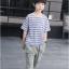 เสื้อ+กางเกง สีน้ำเงิน แพ็ค 5 ชุด ไซส์ 120-130-140-150-160 (เลือกไซส์ได้) thumbnail 2