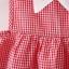 ชุดเดรสลายสก็อตสีแดงปกคอสีขาว แพ็ค 3 ชุด [size 1y-18m-2y] thumbnail 5