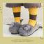 ถุงเท้าสั้น สีเหลืองน้ำตาล แพ็ค 12 คู่ ไซส์ ประมาณ 3-5 ปี thumbnail 1