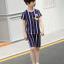 เสื้อ+กางเกง สีน้ำเงิน แพ็ค 5 ชุด ไซส์ 130-140-150-160-170 (เลือกไซส์ได้) thumbnail 6