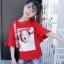 เสื้อ สีแดง แพ็ค 6 ชุด ไซส์ 110-120-130-140-150-160 (เลือกไซส์ได้) thumbnail 4