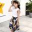 เสื้อ+กางเกง สีขาว แพ็ค 6 ชุด ไซส์ 110-120-130-140-150-160 (เลือกไซส์ได้) thumbnail 1