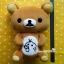 ตุ๊กตาหมีรีลัคคุมะโดนวาดที่ท้อง ท่านั่งไซส์ใหญ่ Rilakkuma plush doll thumbnail 1