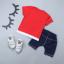 เสื้อ+กางเกง สีแดง แพ็ค 4 ชุด ไซส์ 80-90-100-110 thumbnail 2