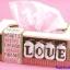 ชุดปักแผ่นเฟรมกล่องทิชชูทรงยาวลาย Love thumbnail 1