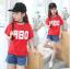 เสื้อ สีแดง แพ็ค 5 ชุด ไซส์ 120-130-140-150-160 (เลือกไซส์ได้) thumbnail 1