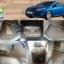 ขายพรมปูพื้นรถยนต์เข้ารูปราคาถูก ford focus 2012 ไวนิลสีครีมขอบครีม thumbnail 1