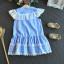 ชุดกระโปรง สีน้ำเงิน แพ็ค 5ชุด ไซส์ 100-110-120-130-140 thumbnail 4