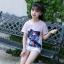 เสื้อ สีชมพู แพ็ค 5 ชุด ไซส์ 120-130-140-150-160 (เลือกไซส์ได้) thumbnail 4