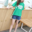 เสื้อ สีเขียว แพ็ค 5 ชุด ไซส์ 120-130-140-150-160 (เลือกไซส์ได้) thumbnail 5