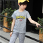 เสื้อ+กางเกง สีเทา แพ็ค 5 ชุด ไซส์ 130-140-150-160-170 (เลือกไซส์ได้) thumbnail 3