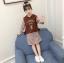 เสื้อกั๊ก+เสื้อตัวใน สีน้ำตาล แพ็ค 5 ชุด ไซส์ 120-130-140-150-160 (เลือกไซส์ได้) thumbnail 2