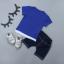 เสื้อ+กางเกง สีน้ำเงิน แพ็ค 4 ชุด ไซส์ 80-90-100-110 thumbnail 2