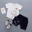 เสื้อ+กางเกง สีขาว แพ็ค 4 ชุด ไซส์ 80-90-100-110 thumbnail 1