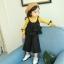 เสื้อตัวนอก+เสื้อตัวใน+กางเกง สีเหลืองดำ แพ็ค 4 ชุด ไซส์ 70-80-90-100 thumbnail 2