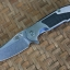 RHK MP-1 Stonewash Blade Blue Titanium Interframe Carbon Fiber Inlay