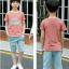 เสื้อ+กางเกง สีช็อคโกแลค แพ็ค 5 ชุด ไซส์ 120-130-140-150-160 (เลือกไซส์ได้) thumbnail 5