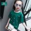 เสื้อ สีเขียว แพ็ค 5 ชุด ไซส์ 120-130-140-150-160 (เลือกไซส์ได้) thumbnail 1