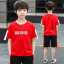 เสื้อ+กางเกง สีแดง แพ็ค 5 ชุด ไซส์ 130-140-150-160-170 (เลือกไซส์ได้) thumbnail 1