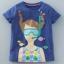 เสื้อแขนสั้นสีกรมท่าลายเด็กผู้หญิงดำน้ำ [size 2y-3y-4y-5y] thumbnail 1