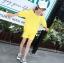 เสื้อ+กางเกง สีเหลือง แพ็ค 5 ชุด ไซส์ 120-130-140-150-160 (เลือกไซส์ได้) thumbnail 6