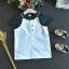 เสื้อ+เอี๊ยมกระโปรง สีเขียว แพ็ค 5ชุด ไซส์ 100-110-120-130-140 thumbnail 3