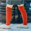 ถุงเท้ายาว สีแดงอิฐ แพ็ค 12 คู่ ไซส์ L ประมาณ 6-8 ปี thumbnail 1