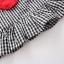 ชุดเซตเสื้อลายสก็อตสีดำ+กางเกงสีแดง แพ็ค 4 ชุด [size 6m-18m-2y-3y] thumbnail 6