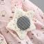 ชุดเดรสแขนยาวลายดอกไม้สีชมพูพร้อมสายสะพายดาว แพ็ค 2 ชุด [size 6m-2y] thumbnail 6