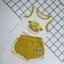 ชุดเซตเสื้อกล้ามลายน้องหมาสีเหลือง แพ็ค 5 ชุด [size 6m-1y-18m-2y-3y] thumbnail 7