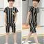 เสื้อ+กางเกง สีดำ แพ็ค 5 ชุด ไซส์ 130-140-150-160-170 (เลือกไซส์ได้) thumbnail 5