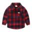 เสื้อเชิ้ตแขนยาวลายสก็อตใหญ่สีแดง [size: 2y-3y-4y-5y-6y] thumbnail 1