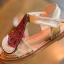 รองเท้าเด็กแฟชั่น สีเขียว แพ็ค 5 คู่ ไซต์ 21-22-23-24-25 thumbnail 4