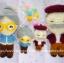 ตุ๊กตาถักคน คู่รักคู่ทรหด - สายคล้องกระเป๋า thumbnail 3