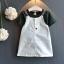 เสื้อ+เอี๊ยมกระโปรง สีเขียว แพ็ค 5ชุด ไซส์ 100-110-120-130-140 thumbnail 1