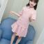 เสื้อ+กระโปรง สีขมพู แพ็ค 5 ชุด ไซส์ 110-120-130-140-150 (เลือกไซส์ได้) thumbnail 2