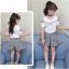 เสื้อ+กระโปรง สีขาว แพ็ค 5 ชุด ไซส์ 120-130-140-150-160 (เลือกไซส์ได้) thumbnail 4