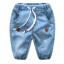 กางเกง สีฟ้า แพ็ค 6 ชุด ไซส์ 90-100-110-120-130-140 thumbnail 1