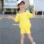 เสื้อ+กางเกง สีเหลือง แพ็ค 5 ชุด ไซส์ 120-130-140-150-160 (เลือกไซส์ได้) thumbnail 4
