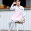 เสื้อ สีชมพู แพ็ค 5 ชุด ไซส์ 80-90-100-110-120 (เลือกไซส์ได้) thumbnail 4