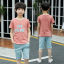 เสื้อ+กางเกง สีช็อคโกแลค แพ็ค 5 ชุด ไซส์ 120-130-140-150-160 (เลือกไซส์ได้) thumbnail 1
