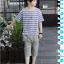 เสื้อ+กางเกง สีน้ำเงิน แพ็ค 5 ชุด ไซส์ 120-130-140-150-160 (เลือกไซส์ได้) thumbnail 4