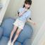 เสื้อ สีฟ้า แพ็ค 5 ชุด ไซส์ 110-120-130-140-150 (เลือกไซส์ได้) thumbnail 1