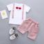 เสื้อ+กางเกง สีชมพู แพ็ค 4 ชุด ไซส์ 80-90-100-110 thumbnail 1