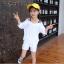 เสื้อ+กางเกง สีขาว แพ็ค 5 ชุด ไซส์ 120-130-140-150-160 (เลือกไซส์ได้) thumbnail 1