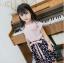 เสื้อ+กางเกง สีชมพู แพ็ค 5 ชุด ไซส์ 100-110-120-130-140 (เลือกไซส์ได้) thumbnail 2